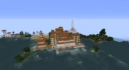 Kingdom island palace town Asian Korean Minecraft