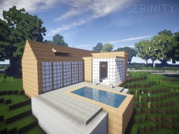 Serenity - My First Modern House Minecraft Map & Project
