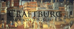 Craftburg | Medieval RPG | Fight for throne - Quests - Sieges - Economy - MCmmo - MyPet Minecraft Server