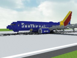 Southwest Airlines Boeing 737-7H4 | +Download McEdit/World Download Minecraft Project