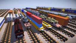 Railroad Freight Car Pack (15+) [1.5:1 Scale] + animation video Minecraft Map & Project