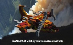 French Canadair V-33 by Ouranos/DreamAirship Minecraft
