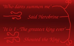 The king who summoned herobrine Minecraft Blog Post