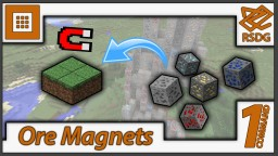 Ore Magnets in Only One Command - Vanilla 1.9 - Pull ores to the surface Minecraft Map & Project