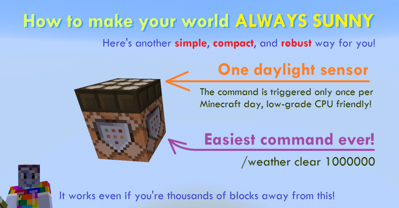 how to change weather in minecraft pe
