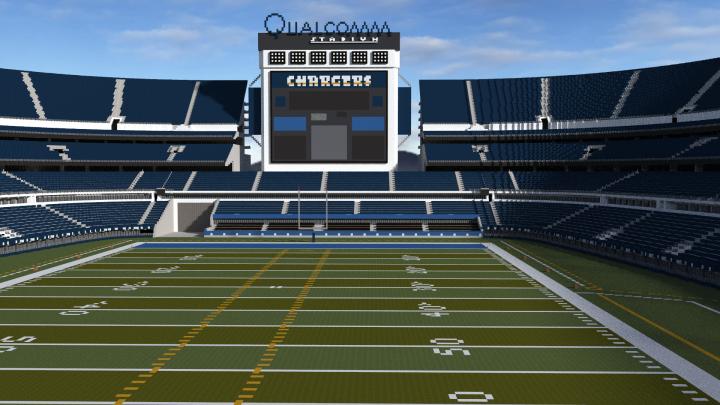 Qualcomm Stadium Minecraft Project