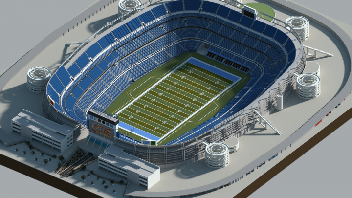 Qualcomm Stadium Minecraft Project on
