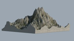 Realistic Mountain Minecraft Map & Project