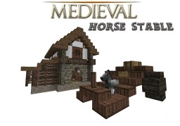 The Medieval Horse Stables (1.8 - 1.15 Snapshot) Minecraft Map & Project