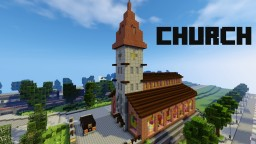 Church With Courtyard And Hearse Minecraft Map & Project