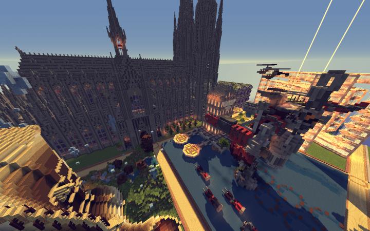 Creative server spawn area