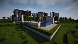 Amazing Modern luxury House Minecraft Map & Project