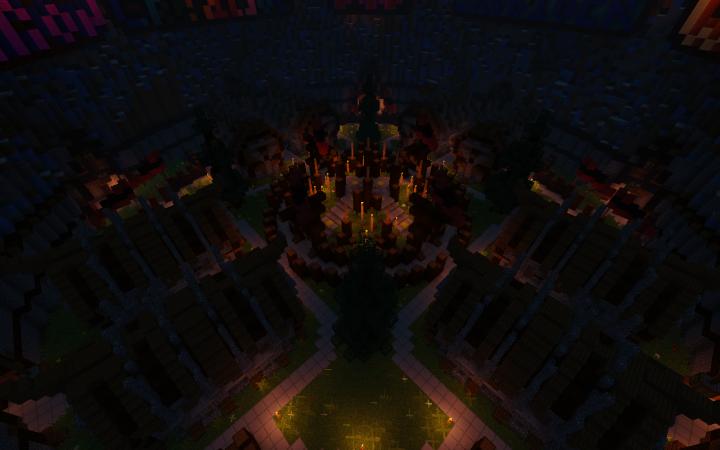 Hub in night