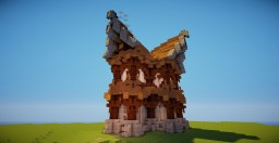 A medieval/fantasy house #YT_French_Project Minecraft