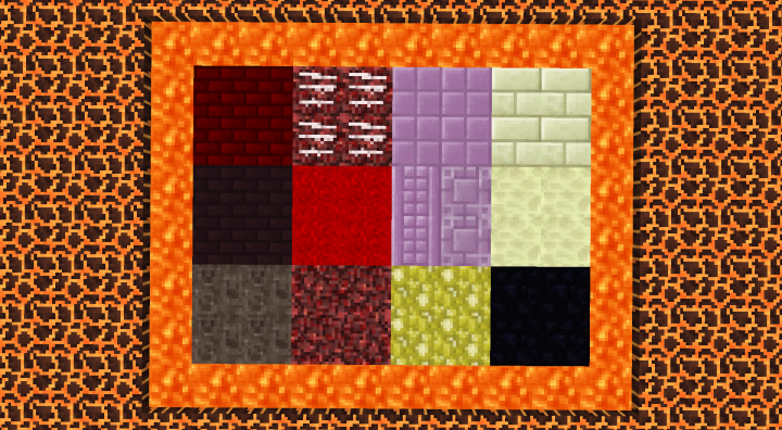 The End and The Nether blocks
