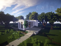 calm - My 2nd Modern House Minecraft Map & Project