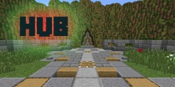 Hub with Mountains (Made by: Sky Network) Minecraft Map & Project