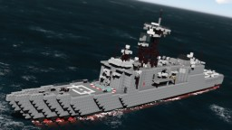 USS Halyburton FFG-40 || 1:1 Scale Minecraft Map & Project
