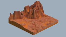 Mars Inspired Terrain Minecraft Map & Project