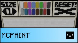 MCPaint: Paint in Vanilla Minecraft 1.10! Minecraft Project