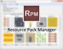 Resource Pack Manager: Manage alternative textures, models, sounds, and files! Minecraft