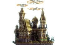The castle in the sky Minecraft Project