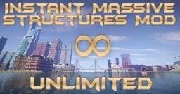 [1.12/1.11/1.10/1.9/1.8/1.7] Instant Massive Structures Mod Unlimited - More than 80,000 structures! Minecraft Mod