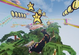 Rainbow Road // Mario // Obstacle Course Minecraft