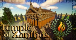 Greek Themed Temple of Xanthos [+Timelapse/Download] Minecraft