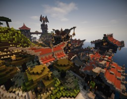 A little medieval fantasy town Minecraft Project