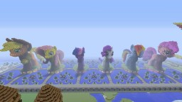 3D ponies and plaza on survival Minecraft Map & Project