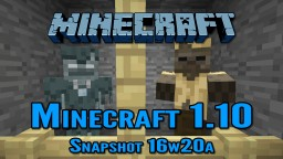 Minecraft Snapshot 16w20a | New Blocks and Mobs! Minecraft Blog Post