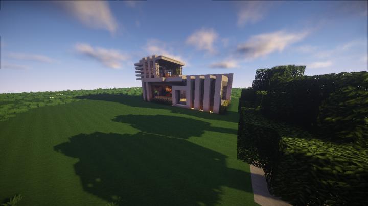 Minecraft simple modern house minecraft project for Simple modern house in minecraft