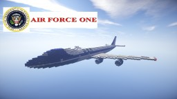 Air force one (Boeing 747) Minecraft Map & Project