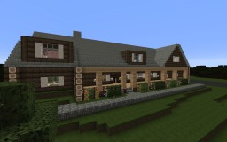 Residential Log Cabin Minecraft Map & Project