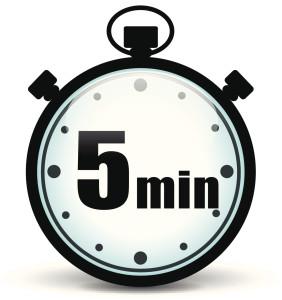 set 5 minute timer