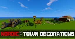 Nordic Town Decorations Tutorial Minecraft Map & Project