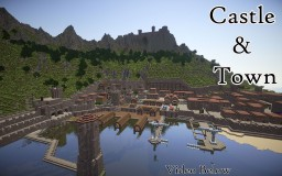 Medieval Castle & Fortified Village Minecraft Map & Project