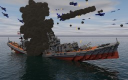 The sinking of Yahagi Minecraft Project