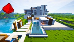 Modern Mansion (w/ Some Redstone) Minecraft Blog Post