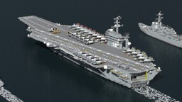 USS Nimitz (CVN-68) Minecraft Project
