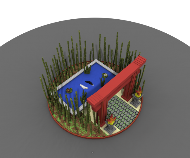 Front view made with MagicaVoxel