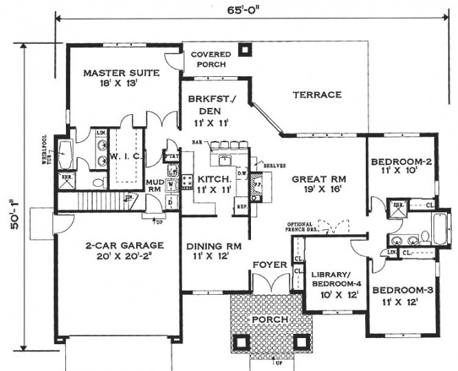 Awesome single story house sleek with step by step for Stepped house plans