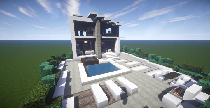 Modern Slanted Roof By Jupitergalaxy Minecraft Map