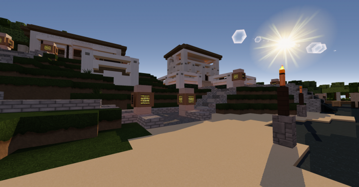 Small Modern Beach House Minecraft Project