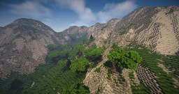 2k x 2k Custom Terrain - Loria coastline Minecraft Map & Project