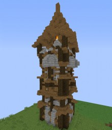 Medieval Tower {Schematic} Minecraft