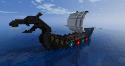 Giant Dragon Head Viking Boat Minecraft Map & Project