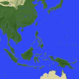 Minecraft East Asia 5120x5120 Minecraft Project