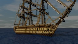 British Third Rate Ship of The Line Frigate Minecraft Map & Project